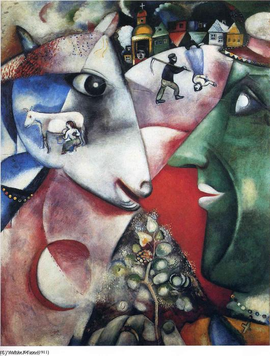 | i e il villaggio di Marc Chagall | Most-Famous-Paintings.com