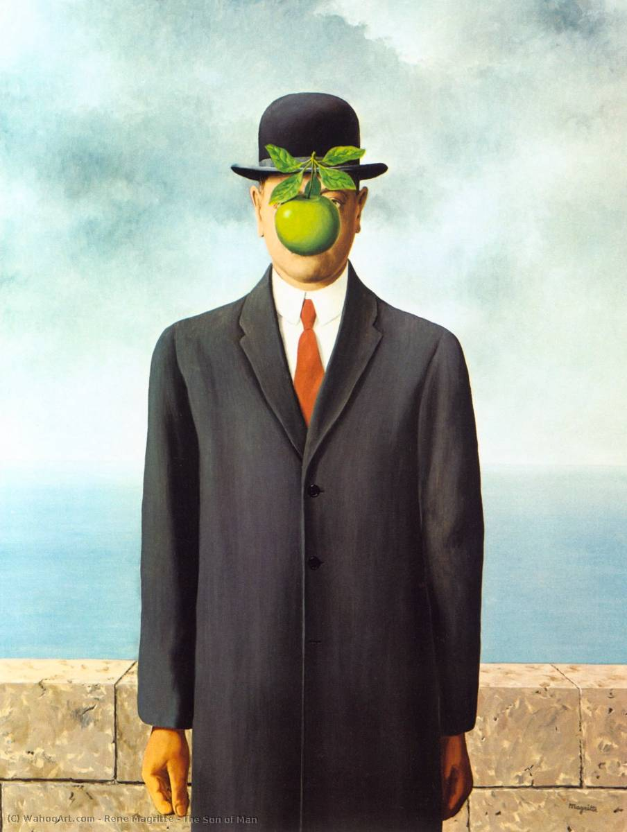 famous painting Il figlio di  L uomo  of Rene Magritte