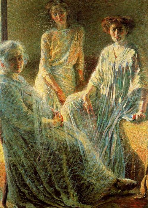 famous painting tre donne of Umberto Boccioni