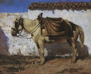 Vasily Dmitrievich Polenov - Cavallo Bianco. Normandia.