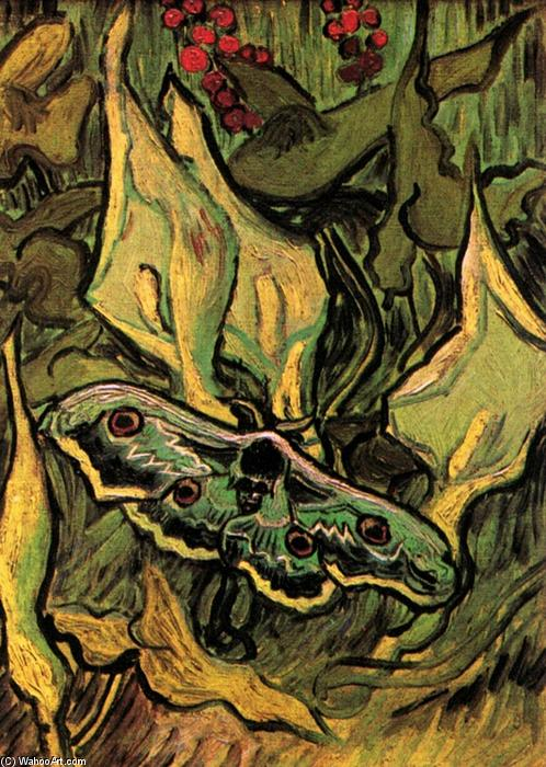 famous painting Grande Peacock Moth of Vincent Van Gogh