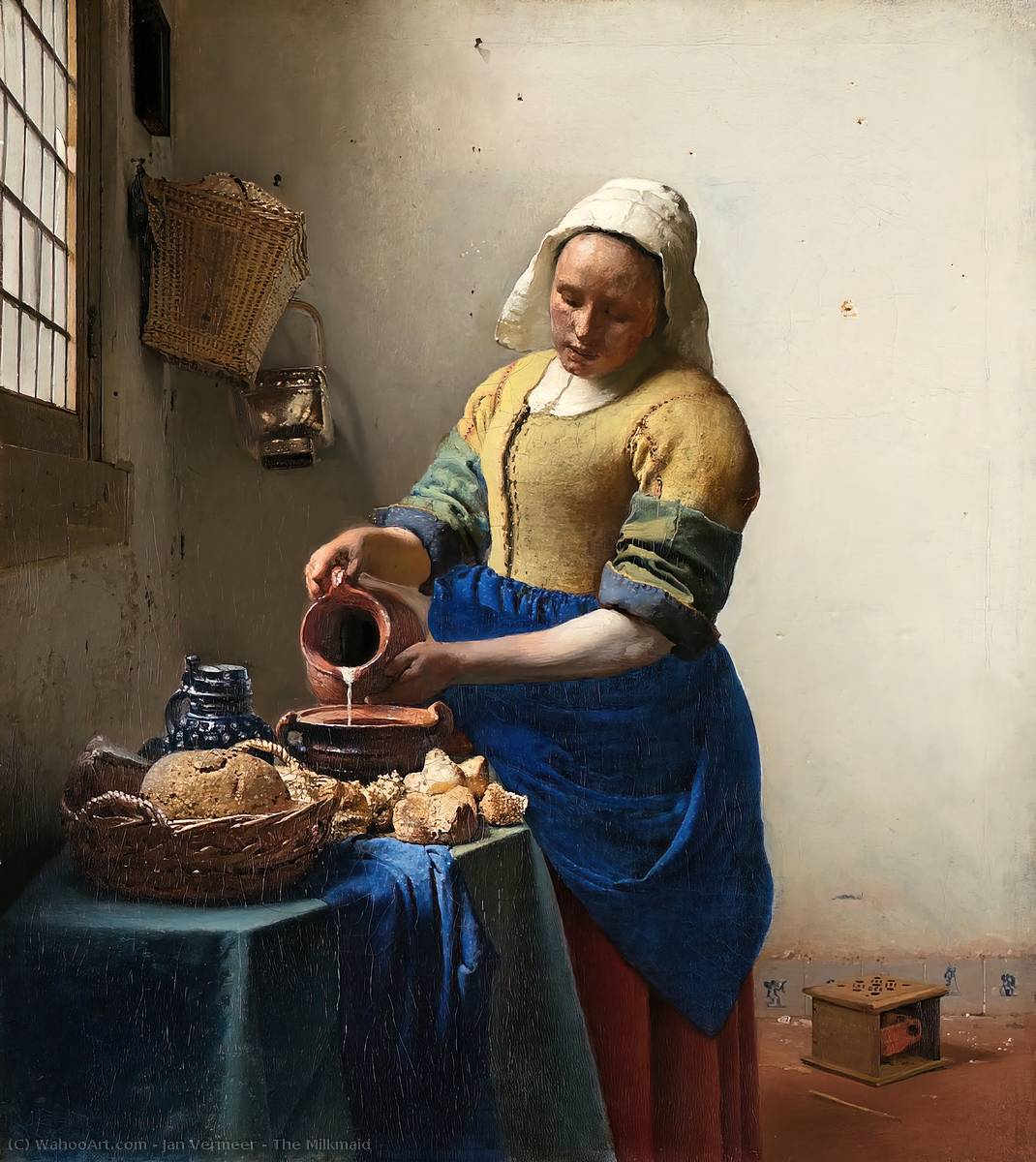 famous painting La lattaia of Jan Vermeer