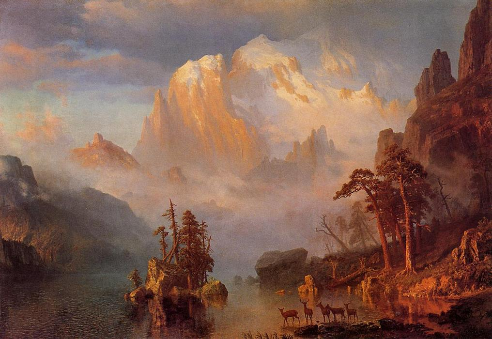 famous painting montagne rocciose of Albert Bierstadt