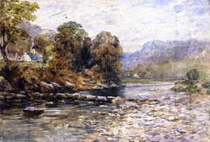 David Cox - Stepping Stones, Bettws-y-Coed