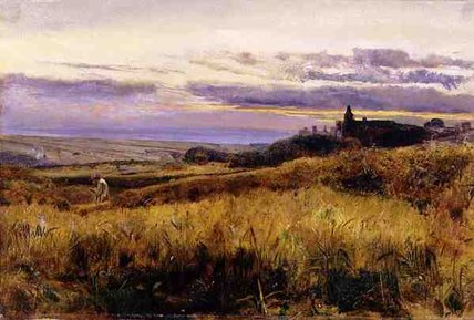 famous painting Cornfield At Sunset of John William Inchbold