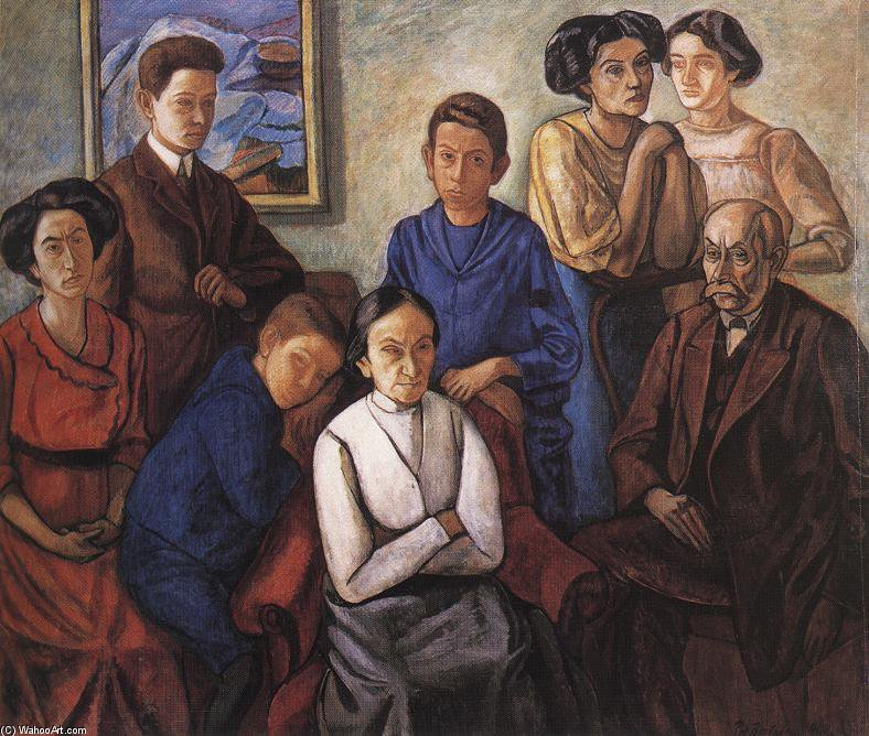 famous painting il famiglia of Bertalan Por