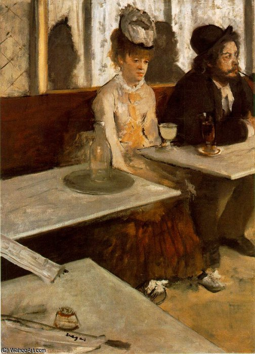 Ordinare Riproduzioni Di Quadri | L labsinth, Musee d Orsay, Parigi di Edgar Degas | Most-Famous-Paintings.com