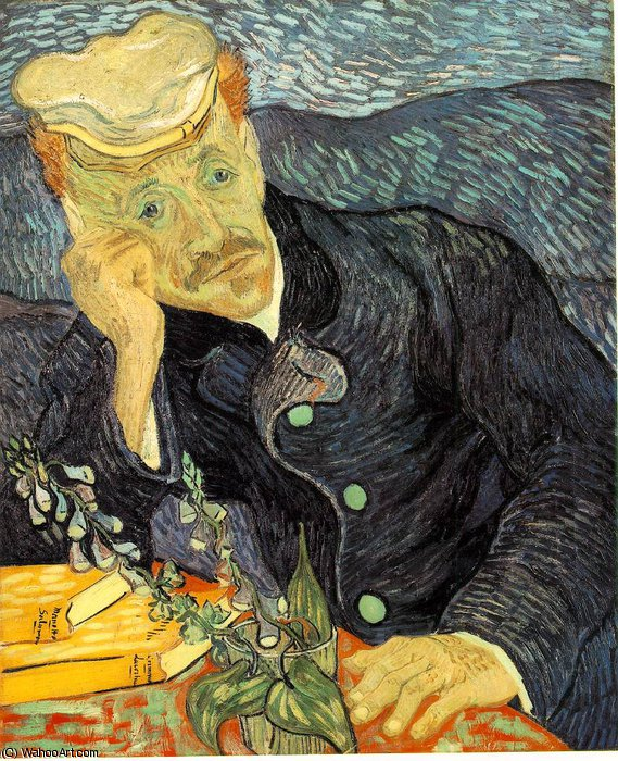 Ordinare Stampe Di Qualità Del Museo | ritratto del dr . Gachet , Privato di Vincent Van Gogh | Most-Famous-Paintings.com