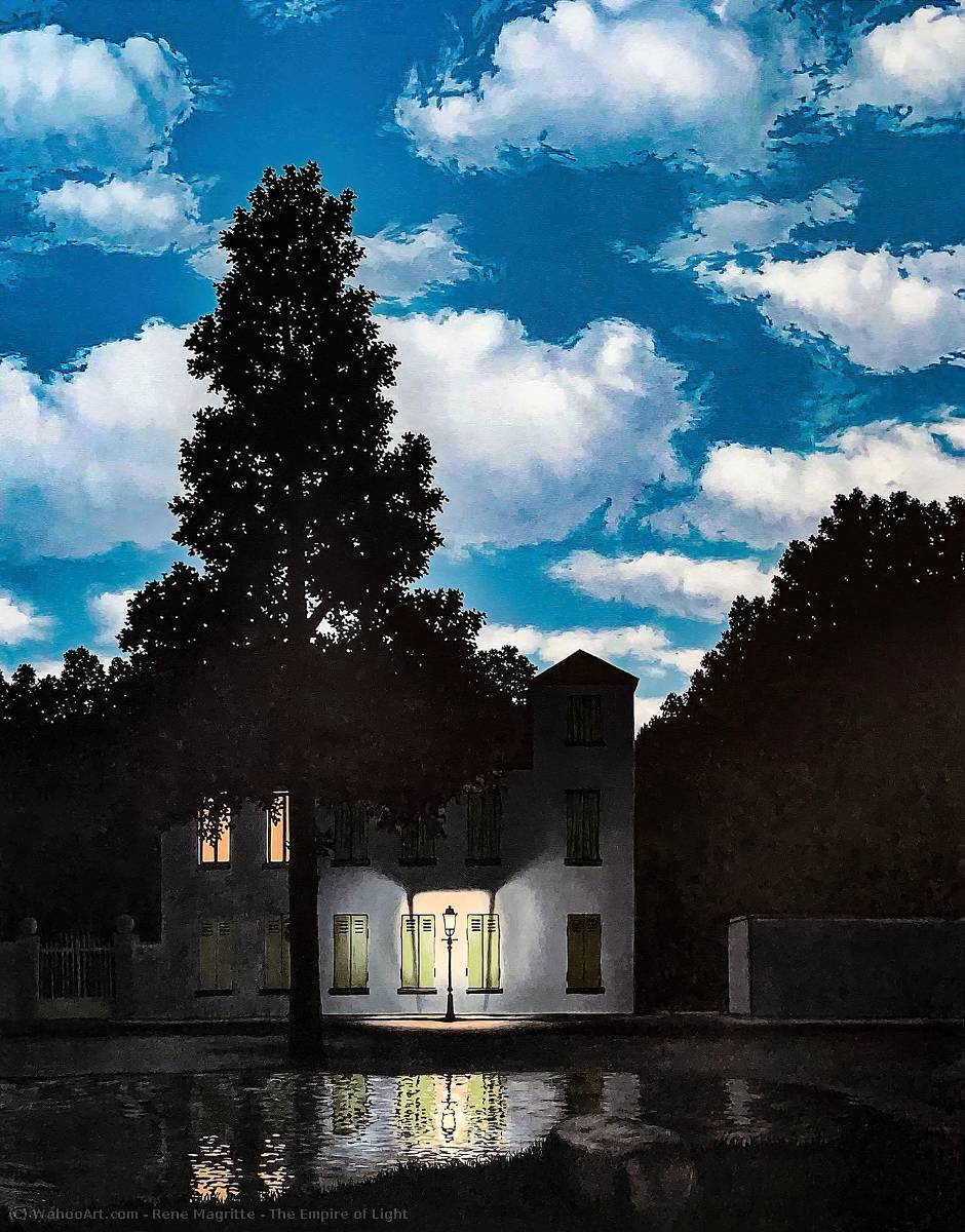 | l'impero della luce di Rene Magritte | Most-Famous-Paintings.com
