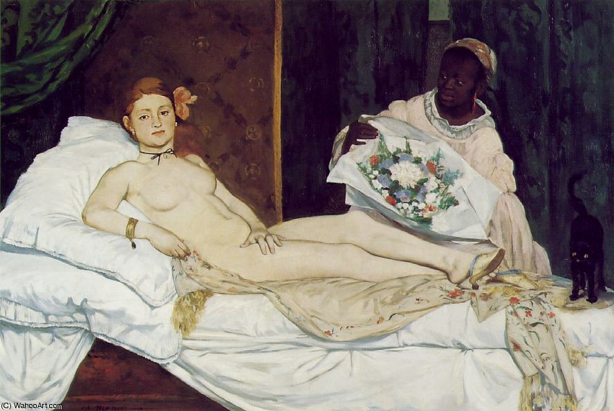 famous painting Olimpia , Musee d'Orsay , A parigi of Edouard Manet