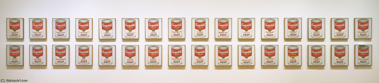 | Campbell's lattine di zuppa di Andy Warhol | Most-Famous-Paintings.com