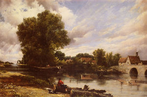 Frederick Waters (William) Watts - Lungo il fiume