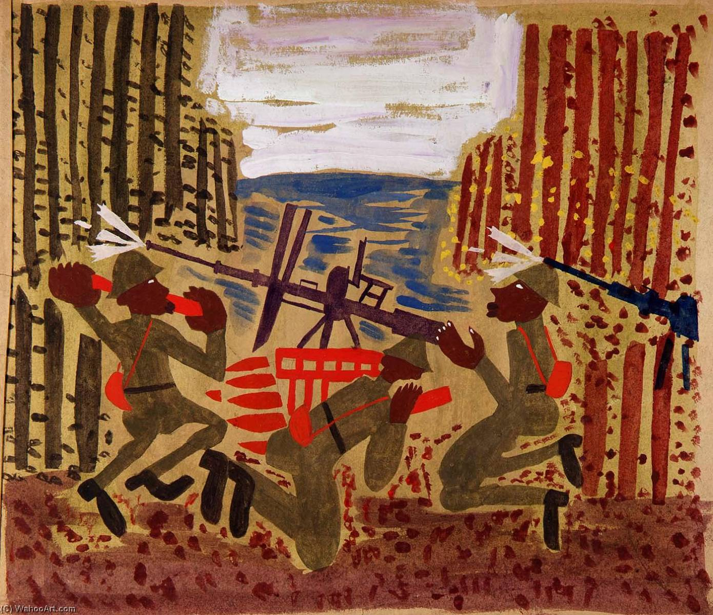 famous painting guerra scena of William Henry Johnson