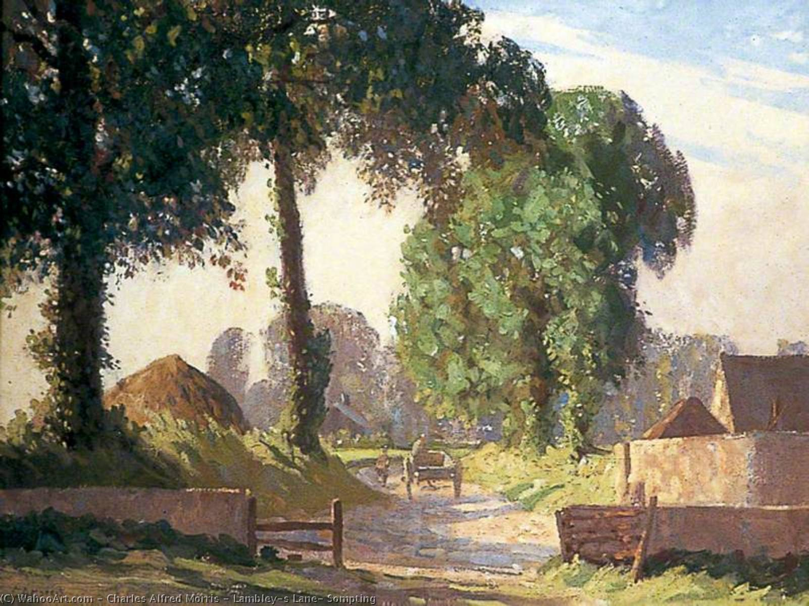 famous painting Lambley's Corsia , Sompting of Charles Alfred Morris