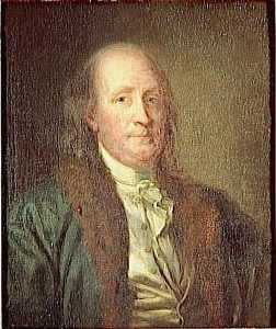 George Peter Alexander Healy - BENZOINO FRANKLIN ( 1706 1790 )
